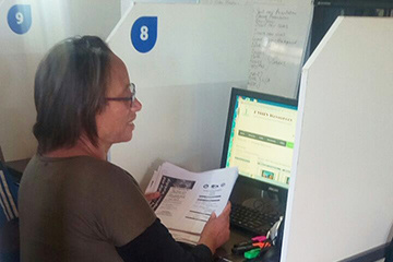 Slangrivier e-Centre online student