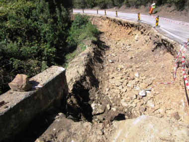 Slip repair excavation in Nature's Valley.