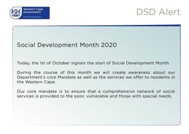 Social Development Month