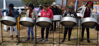 Soothing sounds of the local steelband showcased the DCAS investment in music development at the Heritage Day Celebrations in the West Coast