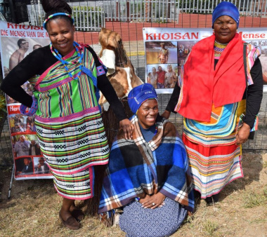 Spontaneous traditional expressions at the Khoisan display on Heritage Day in the West Coast