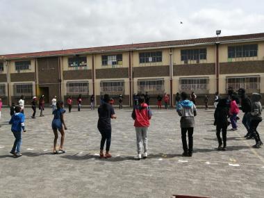 Sporting activities at Rocklands Primary School
