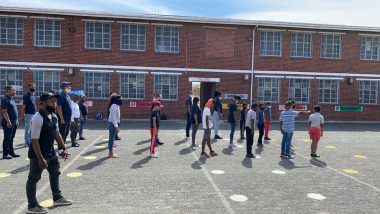 Sports activities at Cascade Primary School