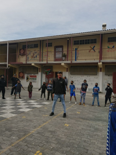 Sports activities at Rocklands Primary School