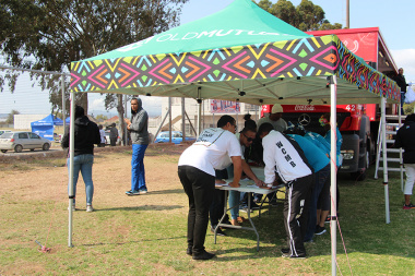 Spot prizes were on offer, courtesy of Old Mutual, at Cape Winelands BTG