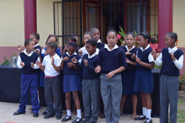 St John's Primary was first on the list to supply some entertainment