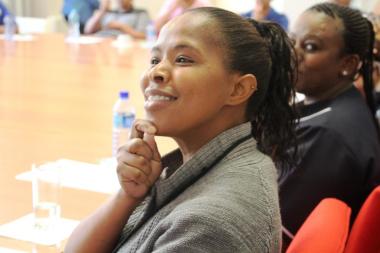 Staff learning the basics of Sign Language