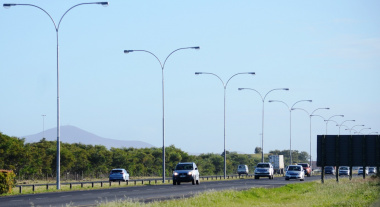 Street lights on the N7 highway between the Wingfield and Potsdam Interchanges.