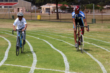 Students could try out their cycling skills