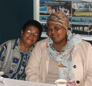 Sybil May (Lombardi) and Nellie Tebele (Siyazama) feeling valued at the Museum