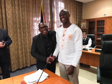 Tabichi and Minister Madikizela