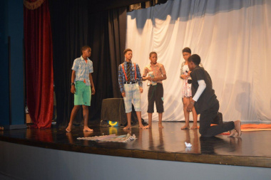 Take a bow confidently presented their stagecraft to the audience at the Eden Drama Festival