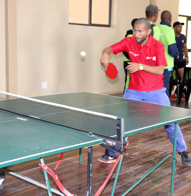 Team DCAS takes the lead in table tennis for males at the BTG in Vredenburg