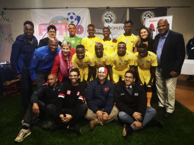 Western Cape Government officially bid farewell to SA Homeless Soccer World Cup Team in Cape Town