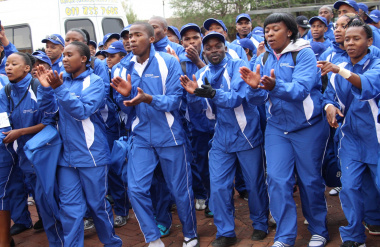 Team Western Cape brought an exciting spirit to the Games by singing together.