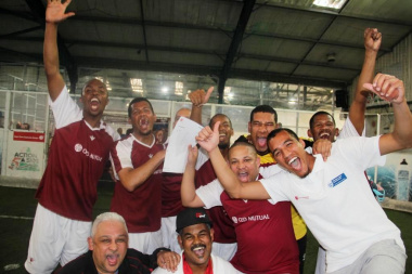 Team Western Cape celebrating after winning the football