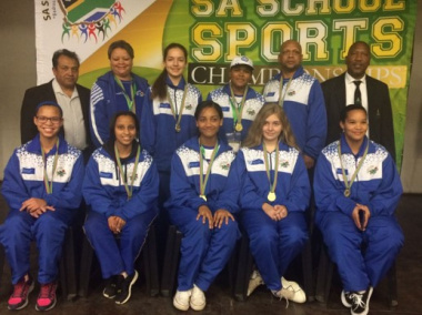 Team Western Cape chess girls u15 gold at the National School Sport Championships Winter Games in Durban