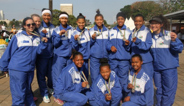 Team Western Cape Netball SASSA II girls u16 at the National School Sport Championships Winter Games in Durban