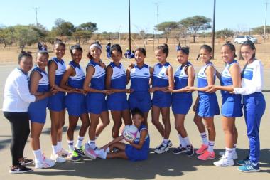 Team Western Cape's netball team