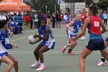 Team Western Cape's netball team in action