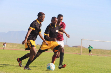 Teams Lingelethu and Phillipi LFA in action