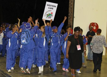 Team WC parades at SANSC opening ceremony