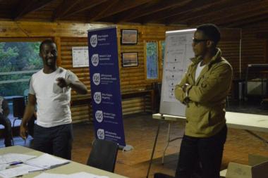 Thami Mbongo & Bongile Mantsai transferring valuable skills to Youth