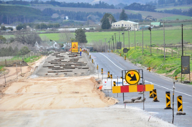 The Annandale Road being widened