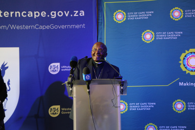 The Archbishop Desmond Tutu shared an inspirational message at the unveiling