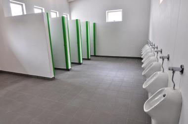 The boys' toilet facility.