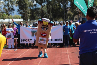The Breede Valley mascot ensured a lot of attention and entertainment
