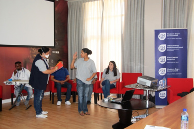 The challenges faced by Deaf patients were effectively presented during a play at the workshop