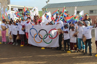 The children were psyched up and ready for all the Olympic activities