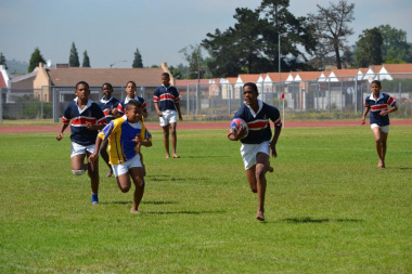 The crowd was treated to rugby action by the participating schools