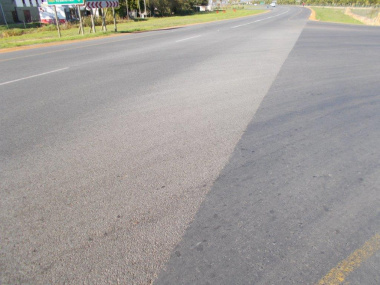 The current road condition on the R304.