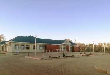 The Dan de Villiers Hostel building