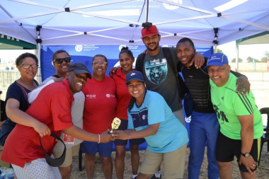 The DCAS Sport Development team were the volleyball winners at the Metro Better Together Games in Bluedowns