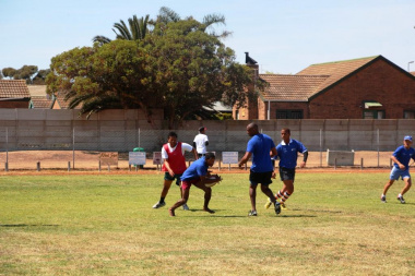 The DCAS touch rugby team was tough competition for the Saldanha Bay team