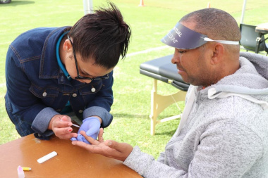 The Department of Health provides free health screening at the Overberg BTG