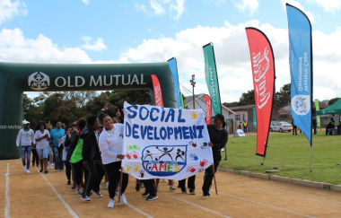 The Department of Social Development during the march-past at the West Coast Better Together Games