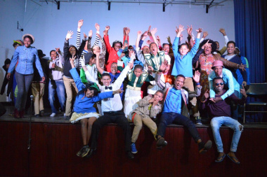The enthusiastic finalists at the Overberg Drama Festival