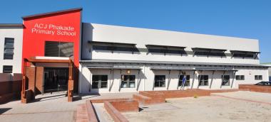 The entrance at ACJ Phakade Primary School.