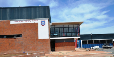 The entrance at the upgraded Vooruitsig Primary School School.