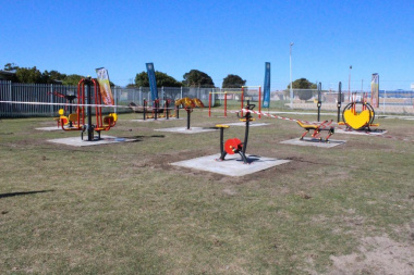 The equipment of the outdoor gym open to the community in Gugulethu