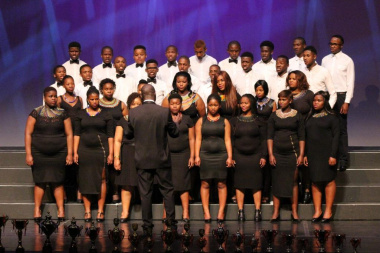 The George Chorale of the Developing Section give their performance of Lift up Your Heads