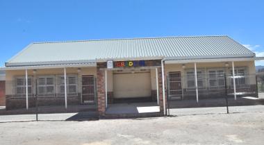 The Grade R classrooms.