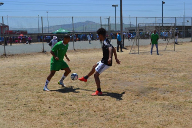The heat did not prevent the teams competing hard in the soccer matches at the Metro Better Together Games in Bluedowns