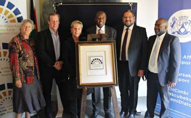 The Heritage Western Cape plaque is unveiled at Vergelegen Estate in Somerset West on Monday