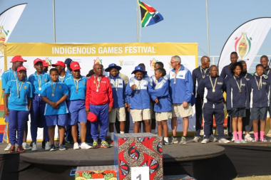 The Jukskei Developing Team won gold at the Indigenous Games Festival