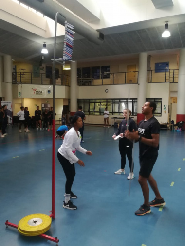 The jump tests is part of the 3-day high-performance training in Paarl